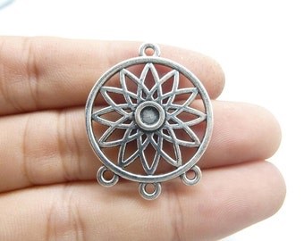 15pcs 33x26mm Antique Tibetan Silver Dreamcatcher Dream Catcher Connector Charms Pendants C8359