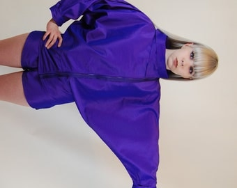 iridescent purple fly girl jacket zipper jackets purple pink coat pin purple coats purple windbreaker jacket windbreakers dope  iredescnets