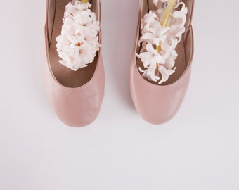 Dark Nude | Mauve Ballet Flats | Ballerina Shoes | Slip Ons | Leather Flats | Bridal Ballerina Flats | Mauve...Ready to Ship