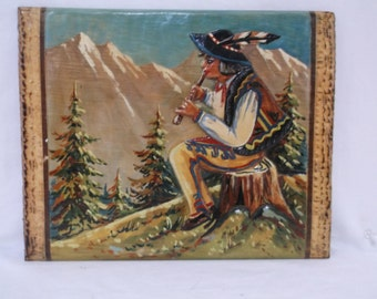 Vintage Wood Carving, Swiss Herder, Goat, Sheep, Alps