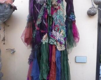 20%OFF RESERVED gothic steampunk bohemian jacket gypsy velvet coat..medium to 48''  bust....