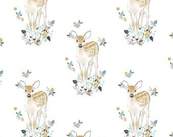 Crib Sheet - Fawn in Aspen - Deer Nursery Bedding, Woodland, Rustic, Crib Bedding