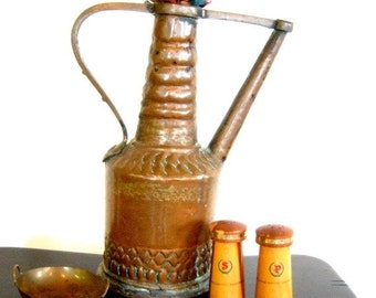 Vintage Wood Salt Pepper Shakers