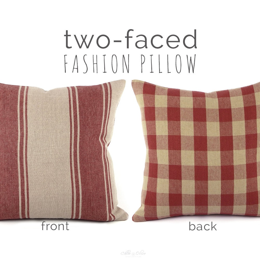 Ralph Lauren Striped Throw Pillow Cover by ChloeandOliveDotCom