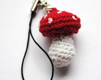 Crochet Toadstool Charm
