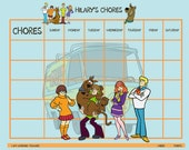 Personalized Children's Reward/Chore Chart - Scooby Dog