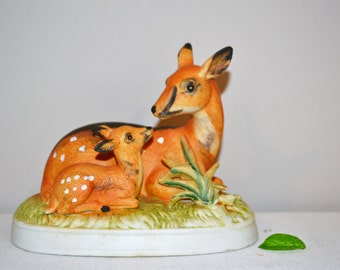 Vintage Deer Doe & Fawn