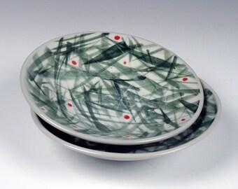 small porcelain plates