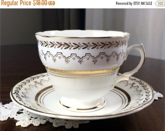 Vintage Teacup, Bone China, Crownford China, Cup and Saucer, Cup and Saucer Set, English Tea 13032