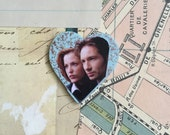 Handmade X Files Scully Mulder Pin