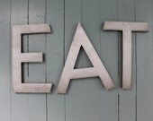 Spell it out.... Metal Letters, E, A, T, Eat, Tea, Ate, Metal Letters,  Letters, Home Decor, Wall Hanging