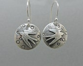 Sterling Silver Swallow Earrings, Flying Birds, Symbol of Love Earrings, Made to Order,  New Hampshire Made,Bird lover Gift,Birdwatcher gift