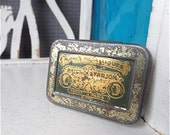 Instant Collection of 10 Pen Nibs in 1900s metal tin box
