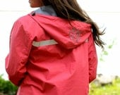 CORAL Monogram Rain Jacket Womens Personalized Adult Sizes