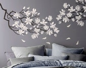 STENCIL - Magnolia Flower Branch - Large Branch Stencil for Walls - DIY Home Decor