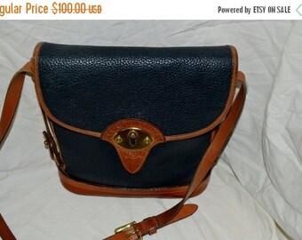 On Sale Vintage Dooney and Bourke Bag  Navy  Blue Spectator Bag Excellent Vintage Collection