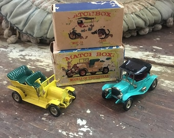 Vintage Childs Toys Matchbox Cars of Yesteryear Maxwell Spyker Lesney in Box