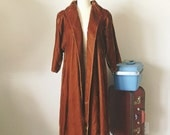 50s 60s Golden Ochre Velvet Swing Coat, Nancy Vinci Coat, Vintage Princess Coat, lightweight coat, small