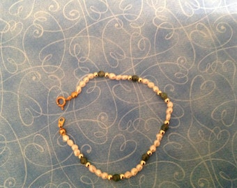 Pearl and Jade Beaded Bracelet