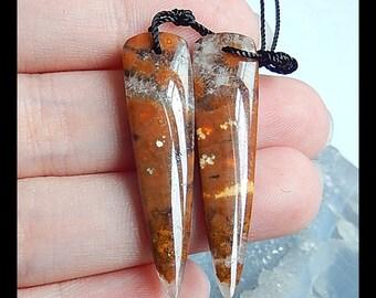 Ocean Jasper Earring Bead,37x10x5mm,5.3g
