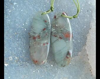 African Blood Jasper  Earring Beads,37x14x5mm,9.42g