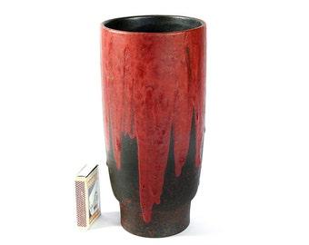Ceramano Vase Design Stromboli Studio Ceramic WGP Fat Lava Pottery Germany Iconic 60s