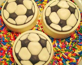 Soccer ball chocolate covered oreo