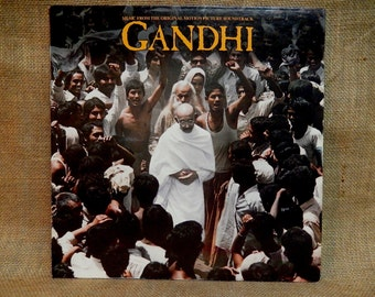 Gandhi - Original Broadway Musical - 1982 Vintage Vinyl GATEFOLd Record Album