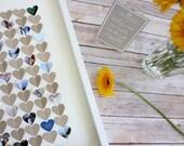 Wedding Guest Shadow Box Frame, guest book alternative - Use Your Photos, Wedding Guestbook, Modern wedding guest book