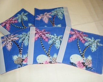 LUGGAGE HANDLE WRAPS Luggage Identifier Tags Palm Trees Tropical Fruit  One (1) each