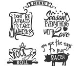 Kitchen cute funny quotes - machine embroidery designs - 4x4 mini sizes and 5x7  INSTANT DOWNLOAD