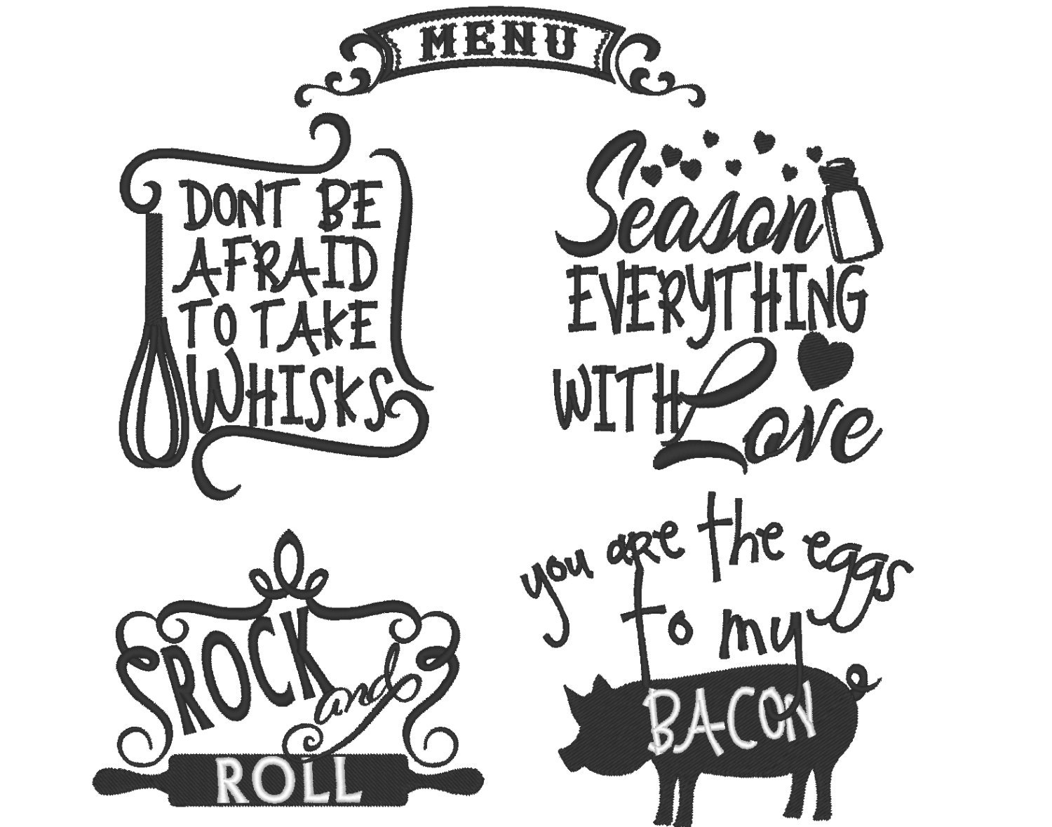 Kitchen cute funny quotes machine embroidery designs