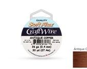 Craft Wire Soft Flex 26gauge Non Tarnish Antique Copper wire 30yards  - 1 Spool Save Big (3580)/1