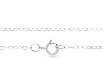 Sterling Silver 2x1.5mm 22 Inch Flat Cable Chain with clasp - 5pcs 20% Discounted price (2713)/5