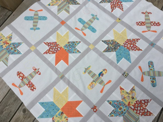 Seeing Stars Baby Boy Quilt Kit By Sewmoddesigns On Etsy