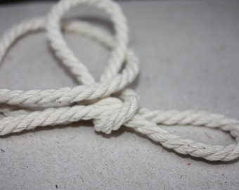 5 mm Cotton Rope = 18.29 Meter = 20 Yards Natural and Elegant COTTON TWISTED CORD
