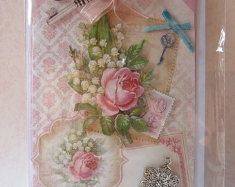 Beautiful romantic handmade Card
