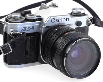 Canon AE-1 35mm Film Camera with Tokina 25-50mm 1:4 lens / Fully Working!