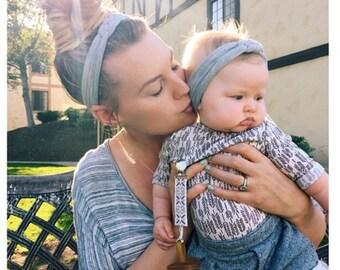 Mother Daughter Headbands - Many Colors - Mommy and Me Headbands - Jersey Baby Headband - Sailor Knot Headbands - Adult Headbands