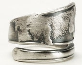 Scottie Dog Jewelry, Animal Ring, Spoon Ring Sterling Silver, Scottish Terrier Ring, Dog Lover Gift, Dog Ring, Adjustable Ring Size (5867)