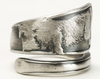 Scottie Dog Jewelry, Animal Ring, Spoon Ring Sterling Silver, Scottish Terrier Ring, Dog Lover Gift, Dog Ring, Adjustable Ring Size (3592)
