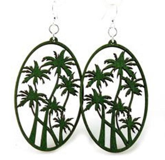 Palm Trees - Wood Earrings