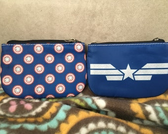 Captain America inspired coin purse