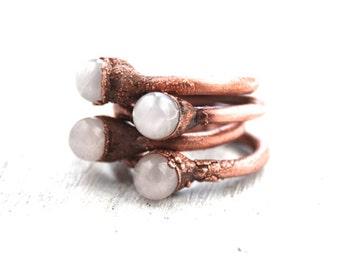 Rose quartz ring | Rose quartz orb ring | Pink crystal ball ring | Copper ring | Rose quartz sphere ring | Gemstone ring | Crystal healing