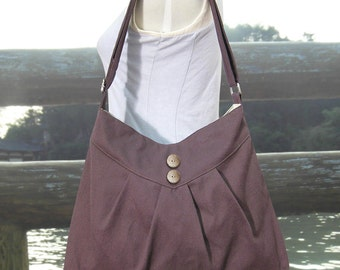 brown cross body bag / messenger bag / shoulder bag / diaper bag  - cotton canvas