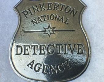 Pinkertons Detective Badge.