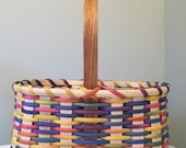 Handmade Large Girl's Easter Basket - Multicolored
