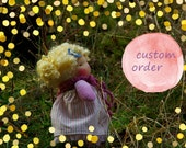 Reserved  Margit and Bene OOAK Natural Fibres Doll by Atelier Lavendel Reservation Pyament
