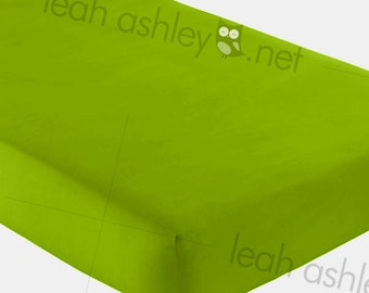 Fitted Crib Sheet - Solid Lime Green - fcs
