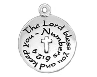 The Lord Bless You and Keep You Pendant 925 Sterling Silver Charm